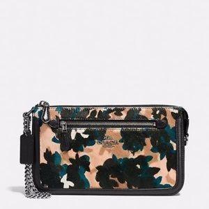 Coach Nolita leaf print calf hair leather purse NW